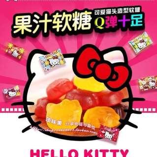 🚚 Hellokitty水果汁軟糖,50顆100元 配料:葡萄糖漿、白砂糖、原果汁 口味:什錦味(檸檬, 草莓,葡萄) 糖果陸製,介意勿下單