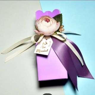 Purple Wedding candy gift boxs