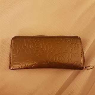 Bronze Long Zipper Wallet
