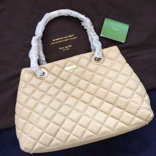 Bnwt authentic kate spade gold coast shimmer maryanne quilted bag
