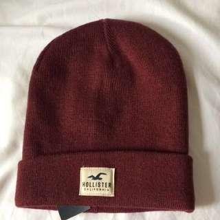 🚚 Hollister酒紅色針織帽