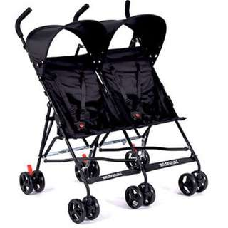 Twin Buggy Umbrella Stroller (BLACK)
