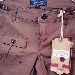 全新自家品牌咖啡色便褲