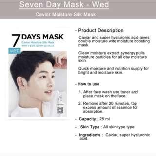 SONG JOONG KI 7 days mask pack