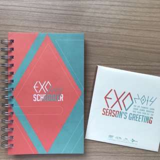EXO SEASON GREETINGS 2014 SCHEDULER AND DVD