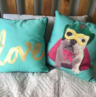 Two very cute pillowcases