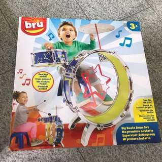 Big Beats drum set with real kick pedal.