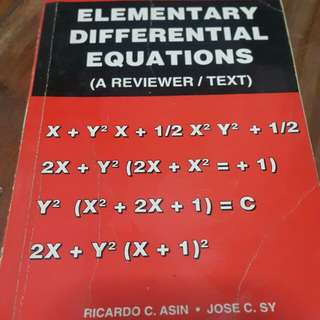 Elementary Differential Equations (A Reviewer/ Text)