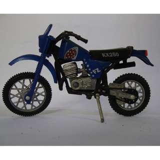Miniatur / Die cast  motorbike KX250 Dark blue