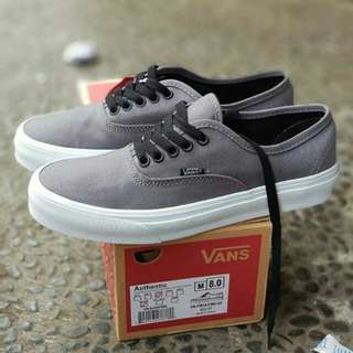 VANS AUTHENTIC GREY WHITE (PREMIUM)