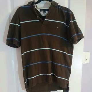 Tommy Hilfiger Strip Polo Men Size S