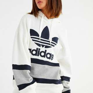 (📣秒殺1件M) Adidas Originals 17 FW Colorblock Hoodie Sweatshirt 女裝連帽衛衣 #Grey
