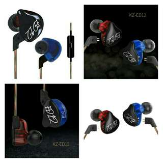 🚚 🆕🆒Newest Original KZ ED12 In Ear Monitor Earphone Bass Stereo Running Sports Ear Buds Noise Cancelling HIFI Bests Studio Earphone #CarouPay