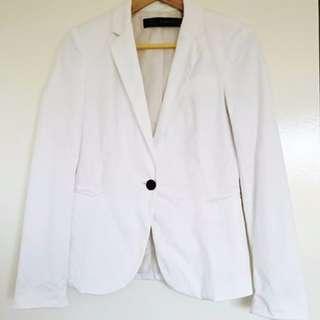 ZARA White Jacket Blazer sz S