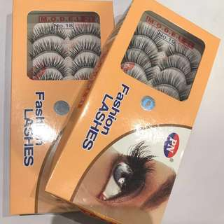 False Eyelashes - 10 Pairs / 1 Box