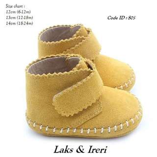 100% leather baby shoe
