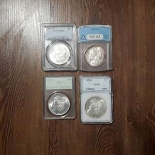 US Morgan Silver Dollars