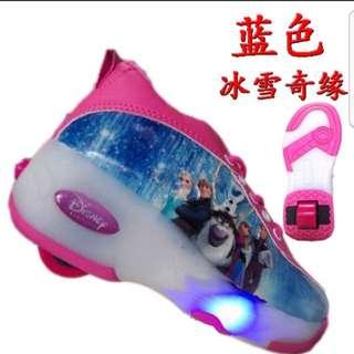 Disney Frozen Princess Roller Shoes with Led lights