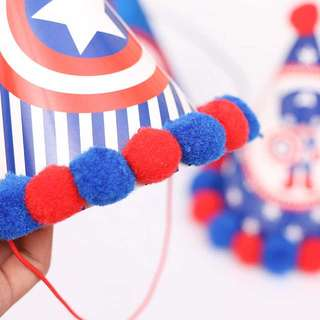 Captain America Party Hat