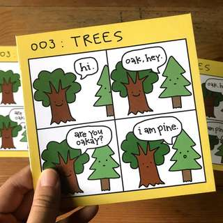 SIGNED & NUMBERED: Comic Strip About Trees By Laugh And Belly (Limited Edition Print)