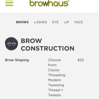 Browhaus Classic Threading