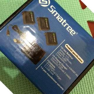 Smatree Batteries for Go Pro Hero 4