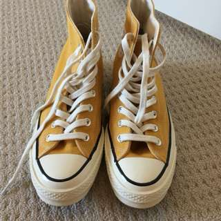 Converse high tops - limited edition yellow