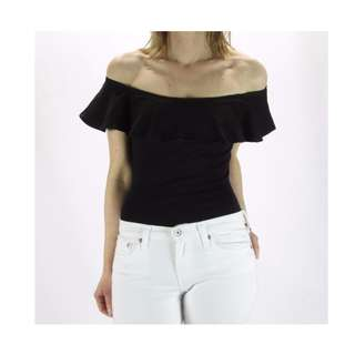 Seed Black Off Shoulder Tops
