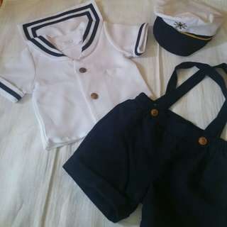 Nautical costumer for Baby Boy (9 to 12mos)
