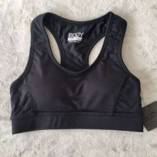 BLACK SPORTS CROP TOP NEW XS