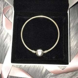 PANDORA LIMITED EDITION engraved you are so loved bangle 17cm