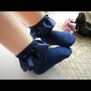 Girl Baby Satin Lace Socks