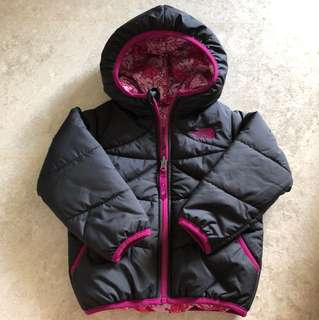 The North Face Reversible Jacket in Black/Pink