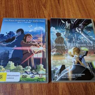 Makoto Shinkai Animated Films Incl. Award-winning Short film