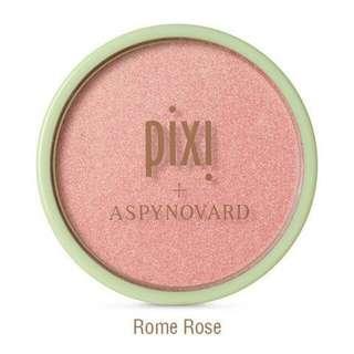 Pixi x Aspyn Ovard glowy powder cheek powder rome rose
