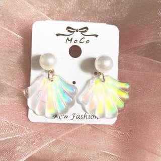 貝殼 海洋 珠光 珍珠 耳環