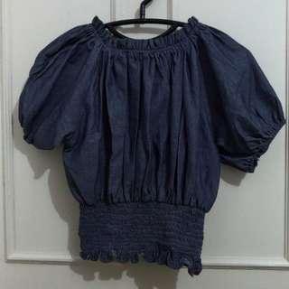 Mini dress biru tua