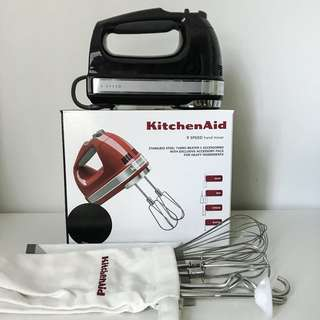 KHM926 Artisan 9 Speed Hand Mixer - Onyx Black