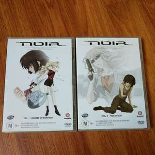 Noir Anime DVD-ROMS Volume 1 and 2