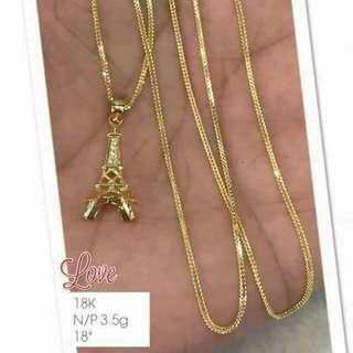 Saudi Gold Necklaces 18K