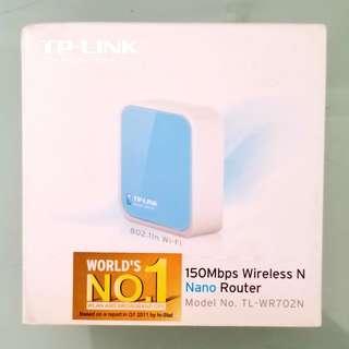 TP-LINK 迷你WiFi NANO ROUTER 藍色