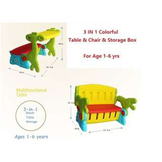 Kids 3-in-1 - Table ; Chair ; Bench