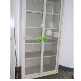 Glass Sliding Cabinet - 5 Layer office furniture - partition