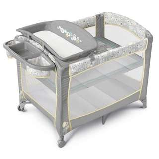 Bright starts travel baby cot