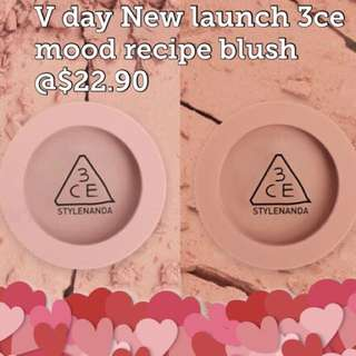 V day new!! 3ce Mood recipe blush assorted