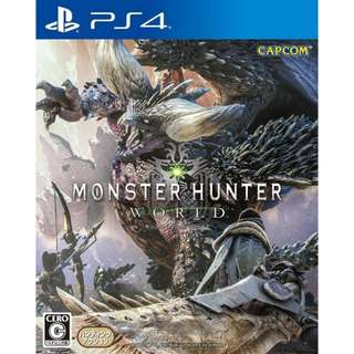 PS4 Monster Hunter World / R3 (English,Chinese)