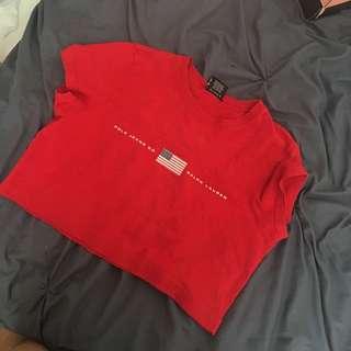 RALPH LAUREN crop t-shirt
