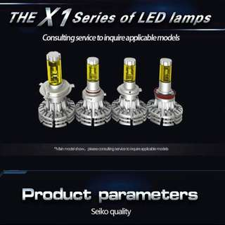 X1 Led 3 color bulb