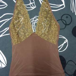 Brown Backless Top