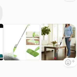 Spray mop.